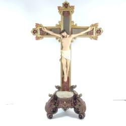 Jesús Crucificado - Figura pintada a Mano - 33 cm