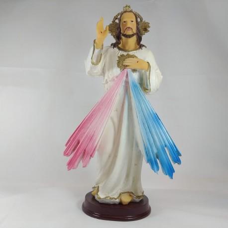 Sagrado Corazón de Jesús - Figura pintada a Mano - 31 cm