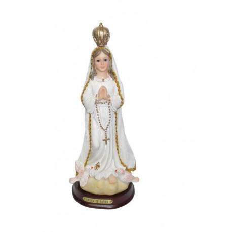 Virgen de Fatima - Figura pintada a Mano - 33 cm