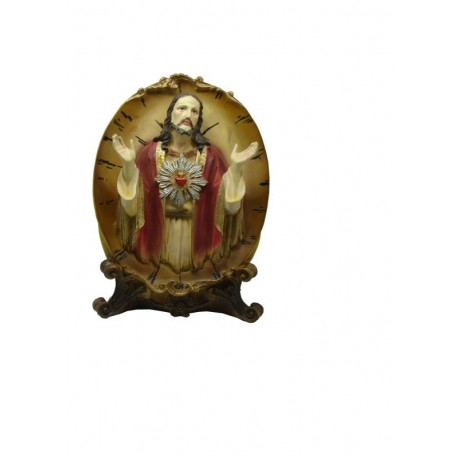 Sagrado Corazón de Jesús - Figura pintada a Mano - 35 cm