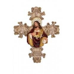 Sagrado Corazón de Jesús - Figura pintada a Mano - 28 cm