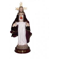 Sagrado Corazón de Jesús - Figura pintada a Mano - 32 cm
