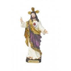 Sagrado Corazón de Jesús - Figura pintada a Mano - 15 cm