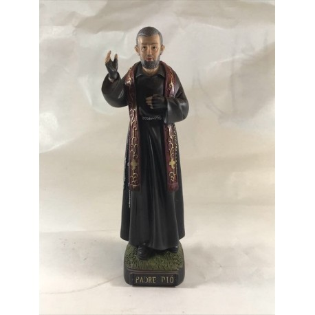 Padre Pio - Figura pintada a Mano - 25 cm