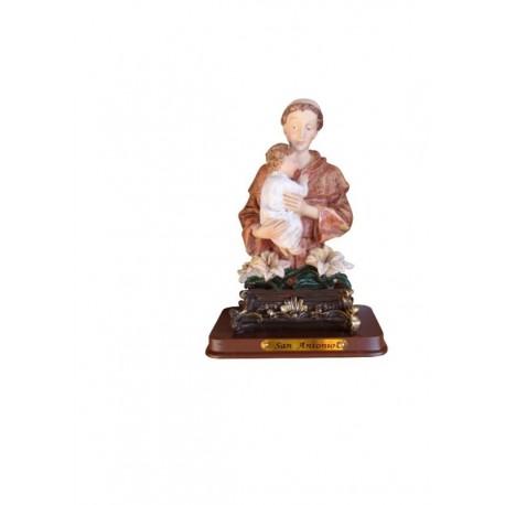 San Antonio - Figura pintada a Mano - 13 cm