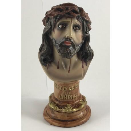 Santo Cristo de Limpias - Figura pintada a mano - 15cm