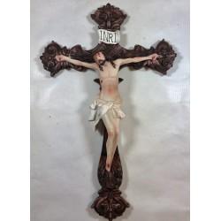Jesús Crucificado - Figura pintada a Mano - 30 cm