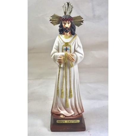 JESÚS CAUTIVO - FIGURA PINTADA A MANO - 20 CM