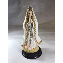 Virgen de Fatima - Figura pintada a Mano - 16 cm