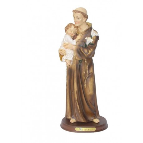 San Antonio - Figura pintada a Mano - 32 cm