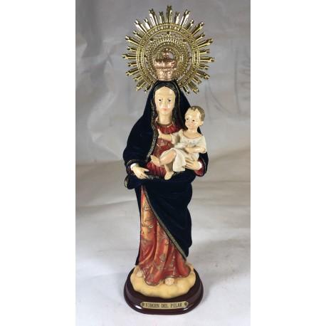 Virgen del Pilar - Figura pintada a Mano - 30 cm