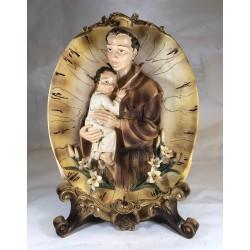 San Antonio - Figura pintada a Mano - 35 cm.