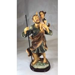 San Cristobal - Figura pintada a Mano - 30 cm