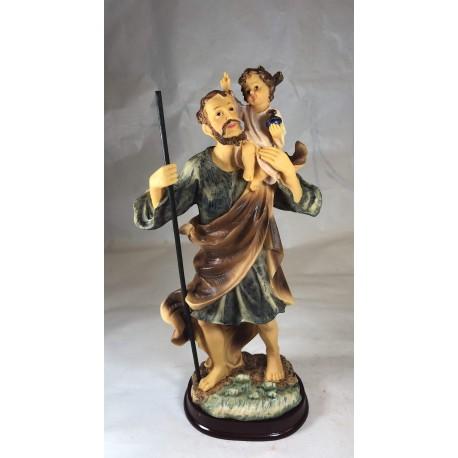 San Cristobal - Figura pintada a Mano - 32 cm