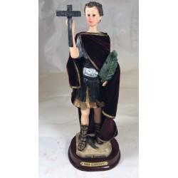 San Expedito - Figura pintada a Mano - 27 cm