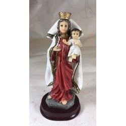 Nuestra Señora del Carmen - Figura pintada a Mano - 16 cm