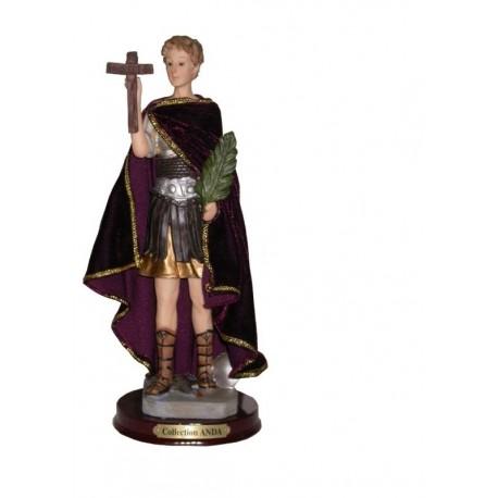 San Expedito - Figura pintada a Mano - 18 cm