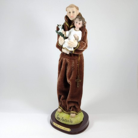 San Antonio - Figura pintada a Mano - 18 cm