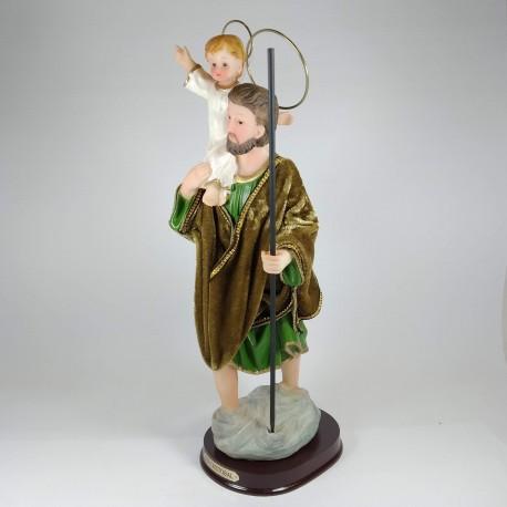San Cristobal - Figura pintada a Mano - 18 cm