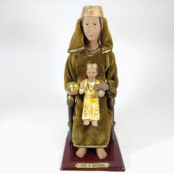 Virgen de la Montserrat - Figura pintada a Mano - 23 cm