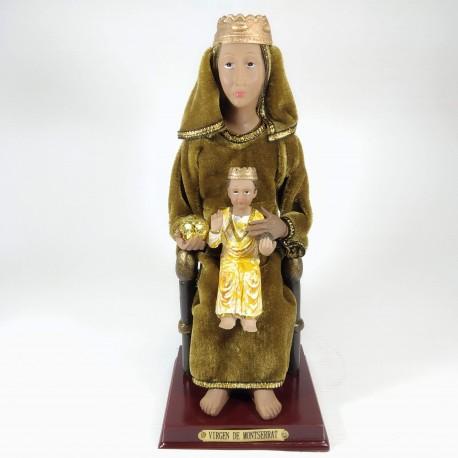 Virgen de la Montserrat - Figura pintada a Mano - 24 cm