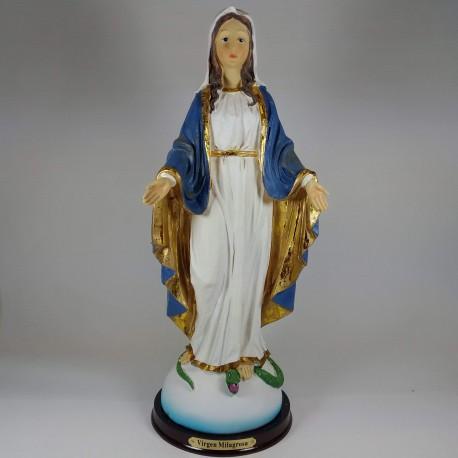Virgen Milagrosa - Figura pintada a Mano - 32 cm