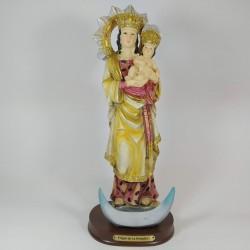 Virgen de la Almudena - Figura pintada a Mano - 29 cm