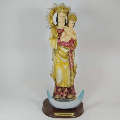 Virgen de la Almudena - Figura pintada a Mano - 34 cm
