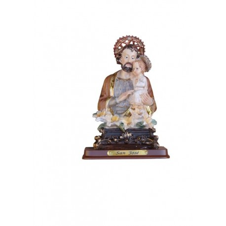 San Jose - Figura pintada a Mano - 13 cm