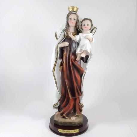 Nuestra Señora del Carmen - Figura pintada a Mano - 33 cm