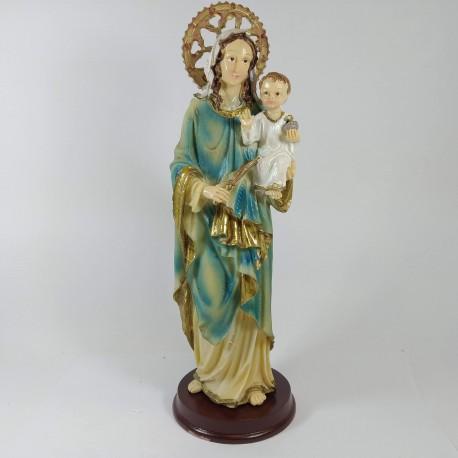 Virgen Madre Auxiliadora - Figura pintada a Mano - 34 cm